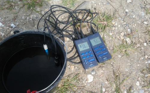 PH oldott oxigén mérés